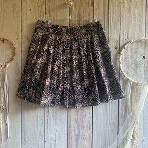 Hinge Abstract Paint Splatter Mini Skirt